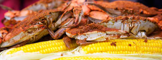 crabs and corn