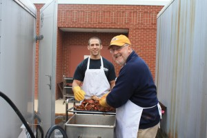 On site steaming at Chapelgate Christian Academy Crab Feast